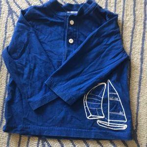 Like new long sleeve sailboat shirt.Janie and Jack